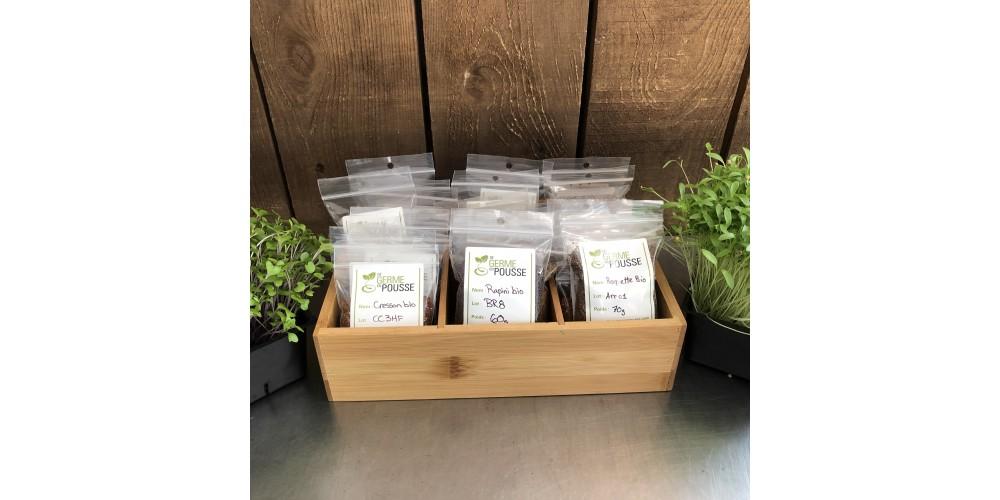 Coffret en bois de 15 semences vedette