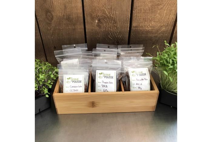 Coffret en bois de 25 semences