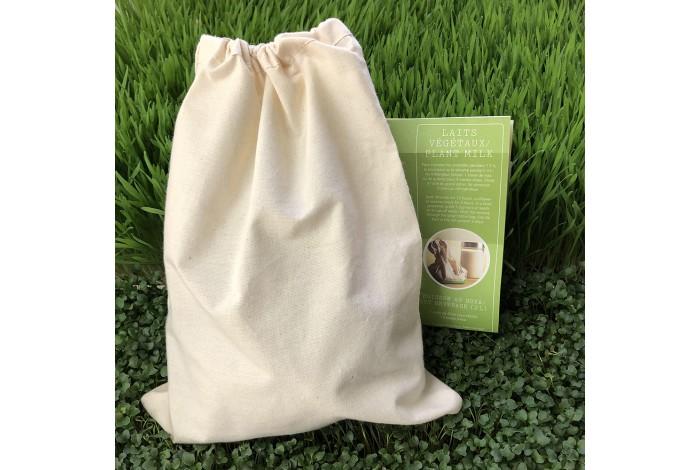 Grand sac en coton pour laits végétaux
